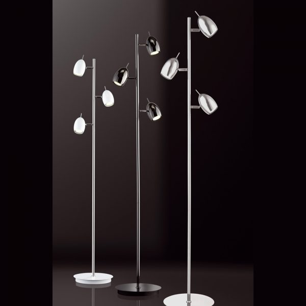 MODERENE STEHLAMPE MIT LED WEISS