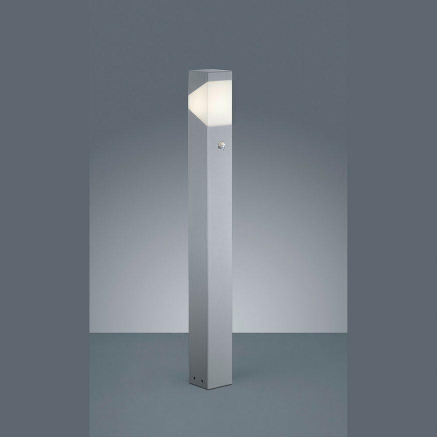 LED Stehlampe Aussen mit Bewegungssensor grau
