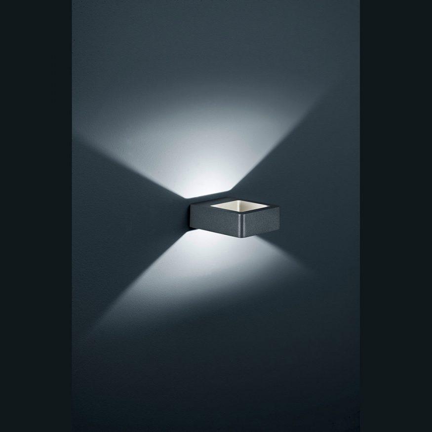Aussen-Wandlampe LED mit frischem Design schwarz