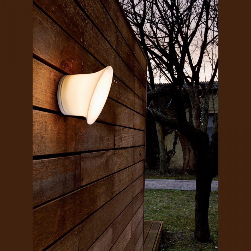 LUCE PLAN ECRAN IN&OUT Wandlampe LED weiss