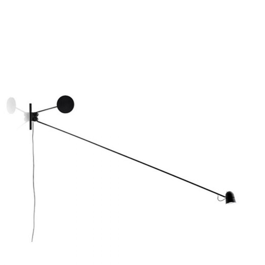 LUCE PLAN COUNTERBALANCE Wandlampe LED schwarz