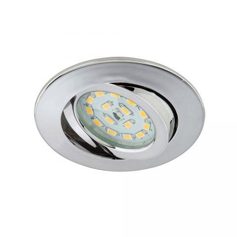Einbauspot LED schwenkbar chrom rund-0