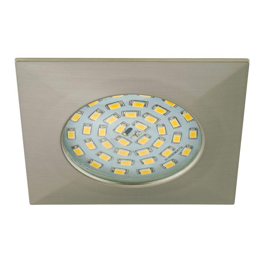 Einbauspot LED stark Nickel matt eckig