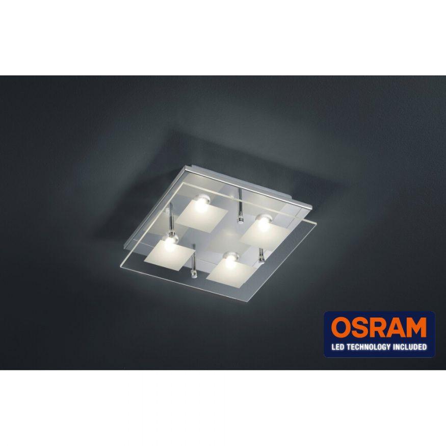 OSRAM-LED Deckenleuchte Glas 4er Quadrat