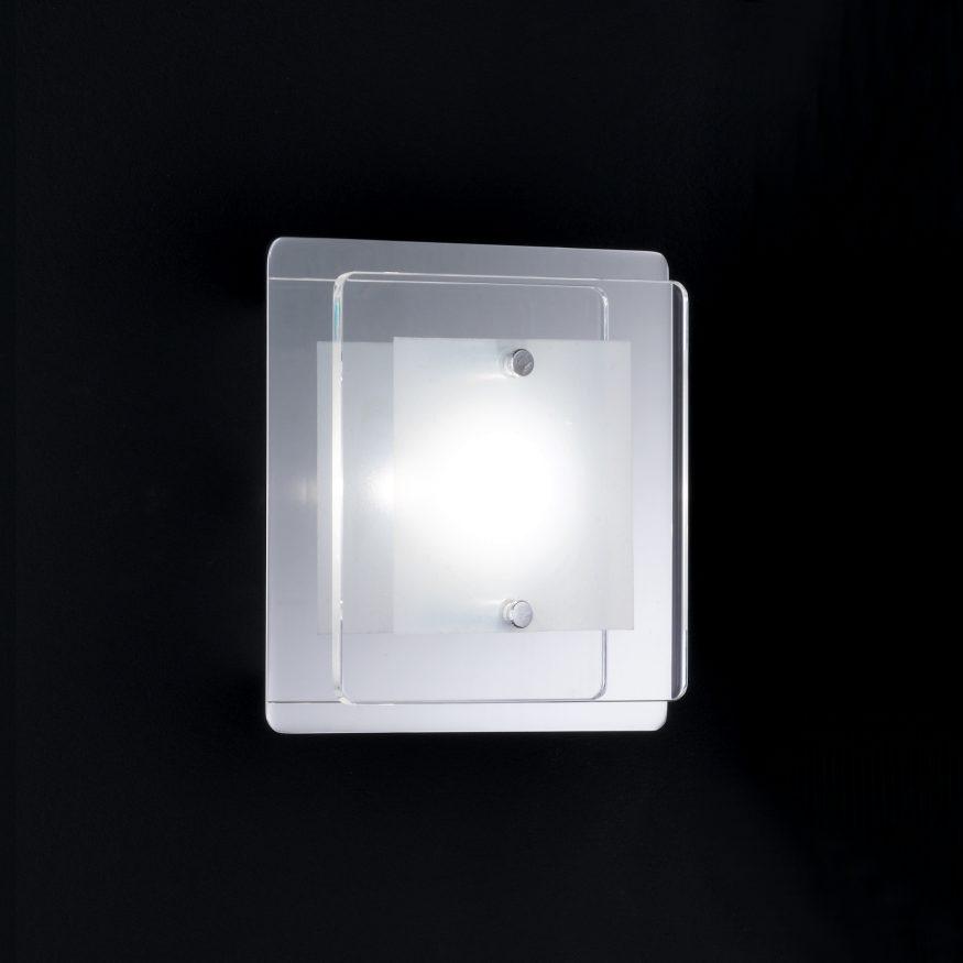 LED Wandleuchte chrom modernes Wohnraum-Licht