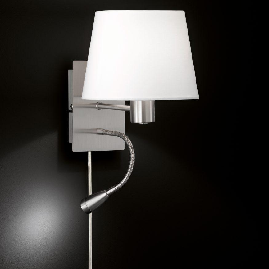 LAMPE als Komibleuchte mit 2 Leuchtstellen plus Led Licht