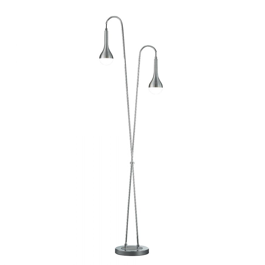 LED-Stehleuchte, Aluminium gebürstet Laternen-Design
