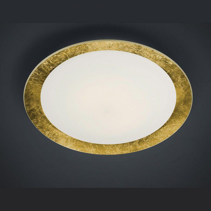 Dimmbare LED Raumleuchte in gold für sehr viel Licht