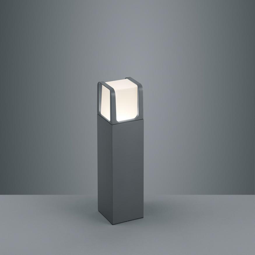 Aussen-Stehlampe mit LED Wege- und Pollerleuchte